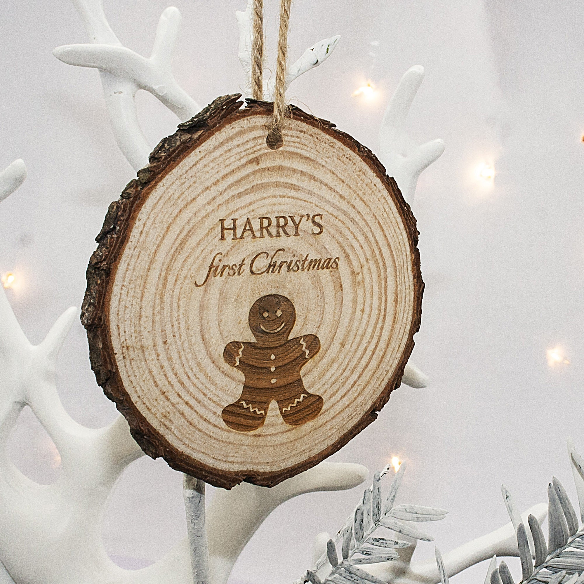 Personalised First Christmas Hanging Decoration - Gingerbread Man - Personalised Gift Solutions - 1