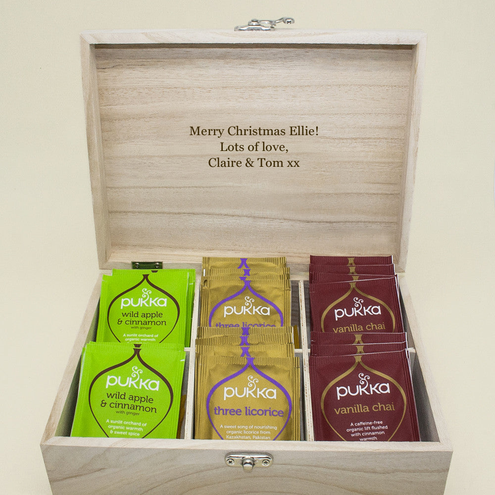 Personalised Tea Box Red - Personalised Gift Solutions - 3