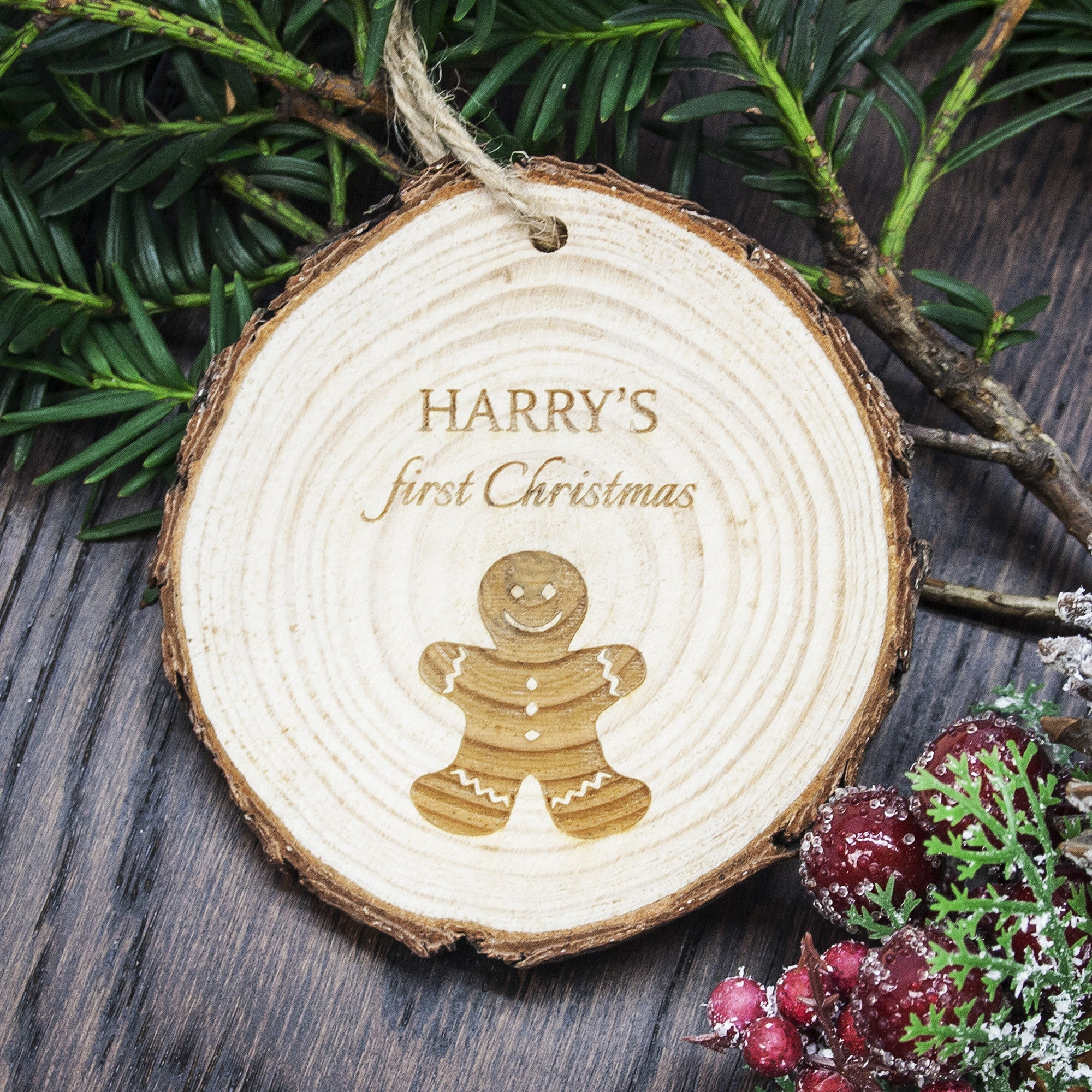 Personalised First Christmas Hanging Decoration - Gingerbread Man - Personalised Gift Solutions - 2