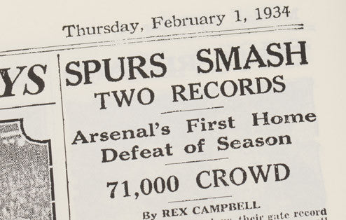 Personalised Spurs V Arsenal Derby Football Newspaper Book - Personalised Gift Solutions - 6