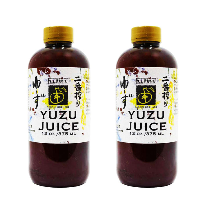 Yakami Orchard 100 % Pure Japanese Yuzu Juice, 12 Ounce (Pack of 2)