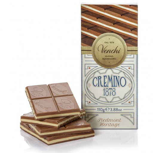 Venchi Milk, White Chocolate and Hazelnut Cremino Bar 3.88 oz (110g)