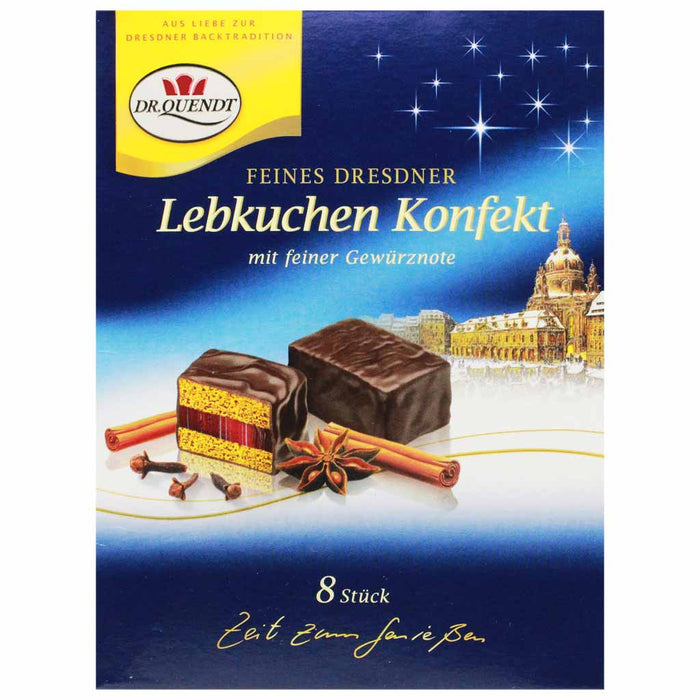 Dr Quendt Chocolate Gingerbread with Cherry Jelly, 4.6 oz (130 g)
