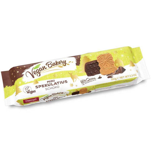 Coppenrath Vegan Mini Chocolate Spekulatius Cookies, 5.3 oz (150 g)