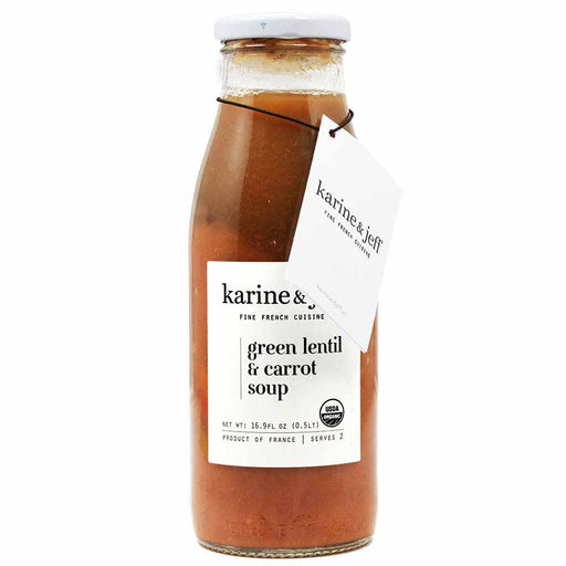 Karine & Jeff Organic French Green Lentil and Carrot Soup 16.9 oz