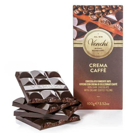 Venchi Coffee Cream Dark Chocolate Bar, 3.52 oz (100 g)