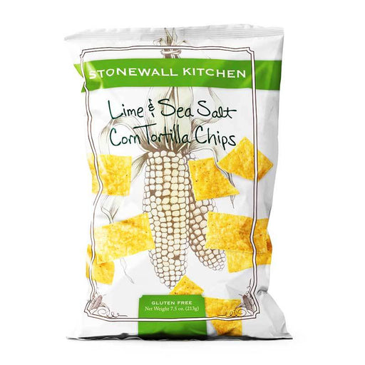 Stonewall Kitchen Lime and Sea Salt Corn Tortilla Chips, 7.5 oz (213 g)