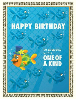 Clown Fish One Of A Kind Birthday Card