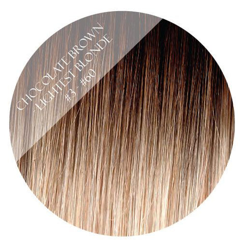 choc vanilla #3-60 balayage halo hair extensions 26inch deluxe