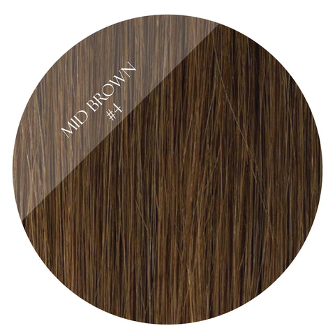 bronze brown #4 tape hair extensions 20inch 80pcs - two full heads