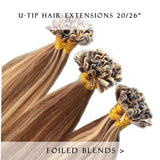 bronze bliss #27/3 fusion hair extensions 26inch 50pcs - half head