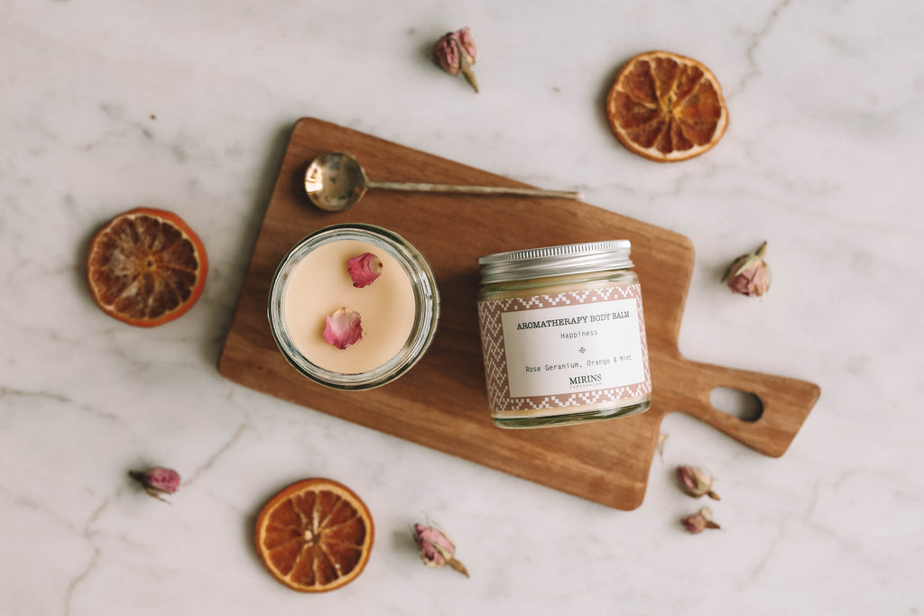 Body Balm - Happiness - Rose Geranium, Orange & Mint