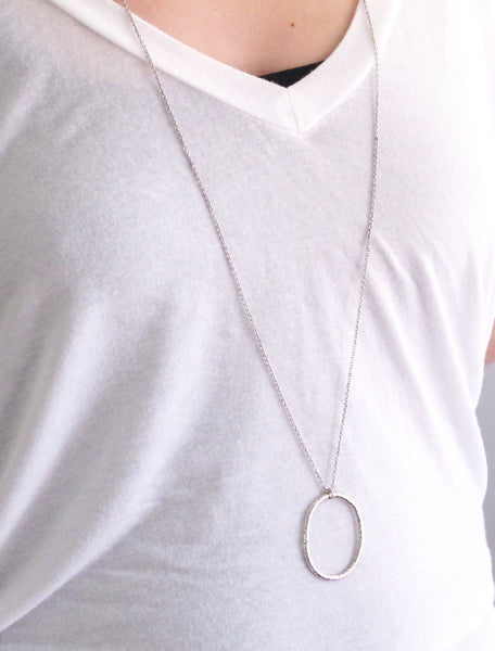 Oval Loop Geo Necklace