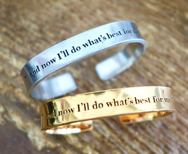 And Now I'll Do It For Me Cuff Bracelet