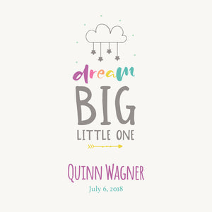 Personalized Baby's First Book Dream Big