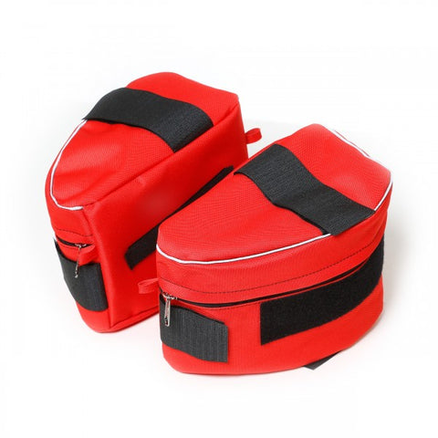 Size 0 Red Saddle Sidebags for IDC Powerharnesses - JULIUSK9® CANADA