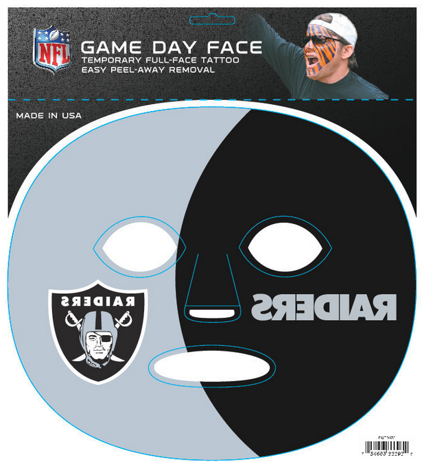Oakland Raiders-Full Face Tattoo