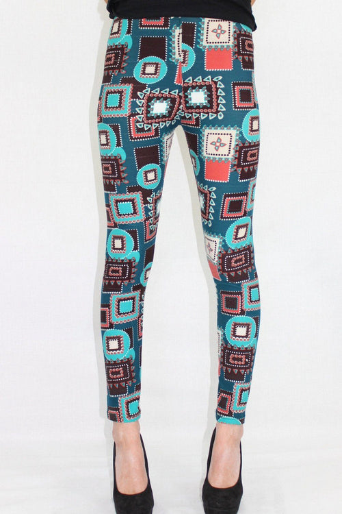 The Front Runner Abstract Leggings - The Laguna Room