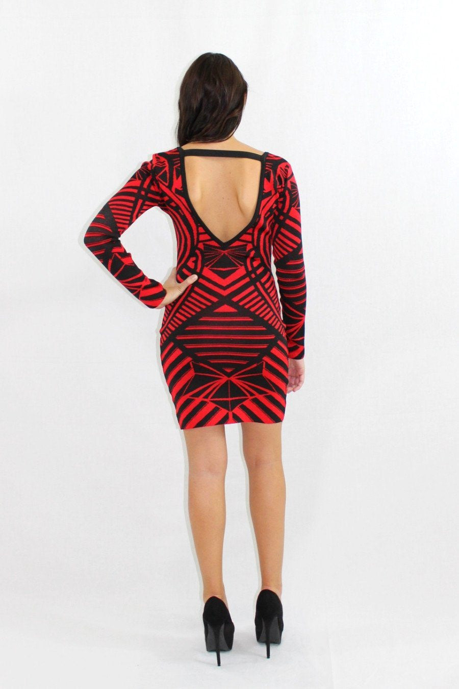 Banned From TV Red Bodycon Dress - The Laguna Room