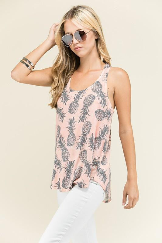 I Want Both Pineapple Tank Top - The Laguna Room