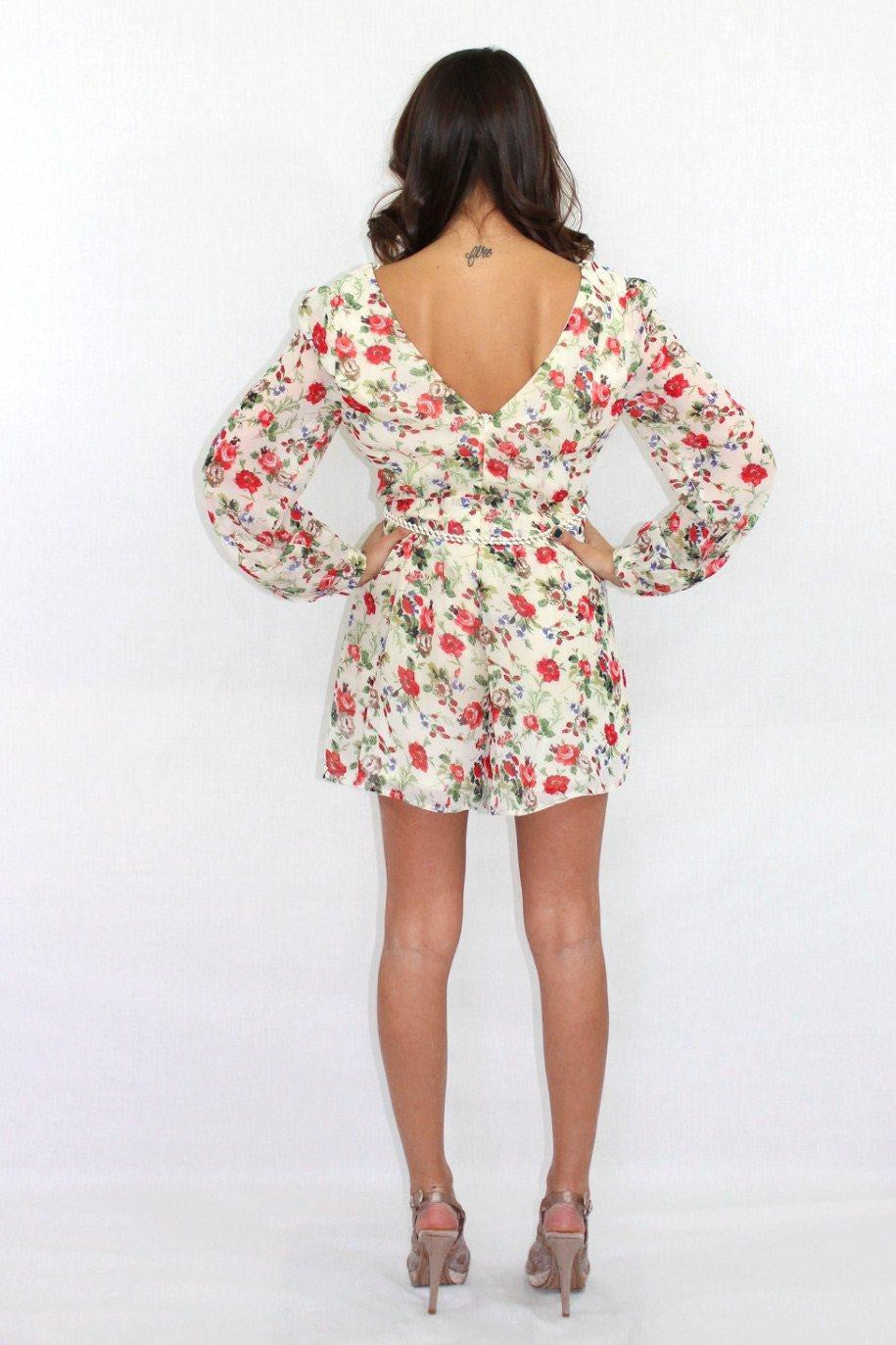 Catch Me If You Can Floral Romper - The Laguna Room