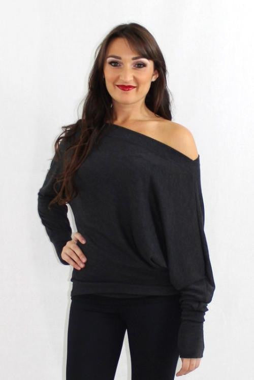 The Side Effect Off the Shoulder Slouchy Sweater - The Laguna Room