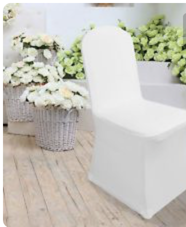 Chair cover white lycra