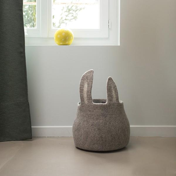 Muskhane | pasu calabash bunny | light stone on floor