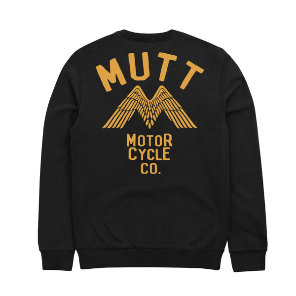 Mutt Wings Crew Sweat Black