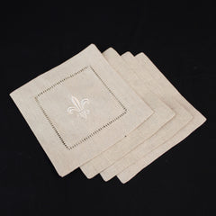 Set of Linen Cocktail Napkins