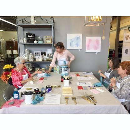 Decorative Painting Class at Le Boulevard