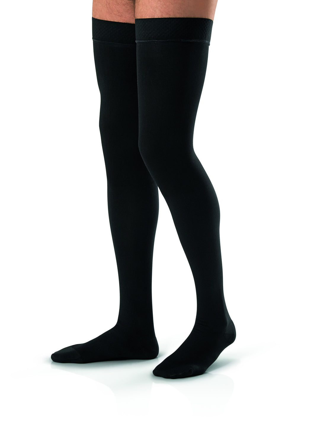 Jobst For Men 15-20 mmHg Compression Thigh High Close Toe With Silicone Dot Band - Scrubsnmed