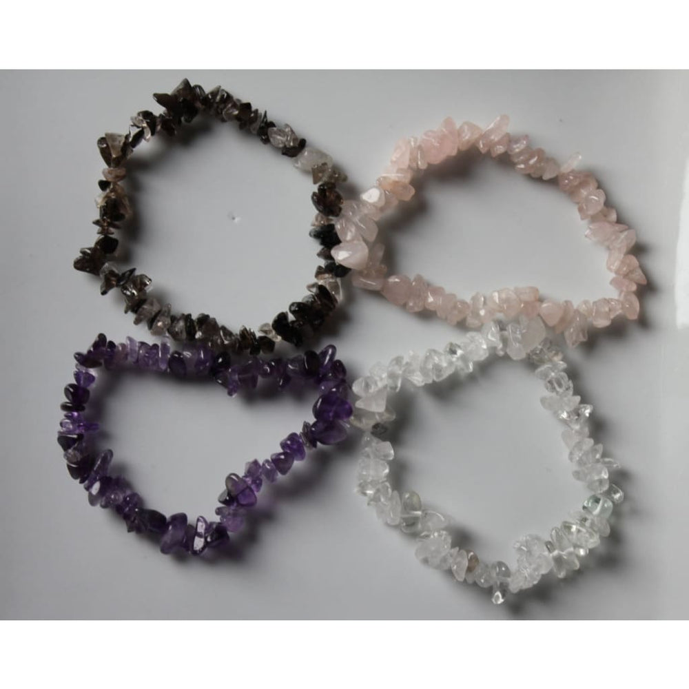 Healing Crystal Bracelet - Stretch Stackable Gemstone Chip Bracelet - Crystal Intention Bracelet - Bracelets
