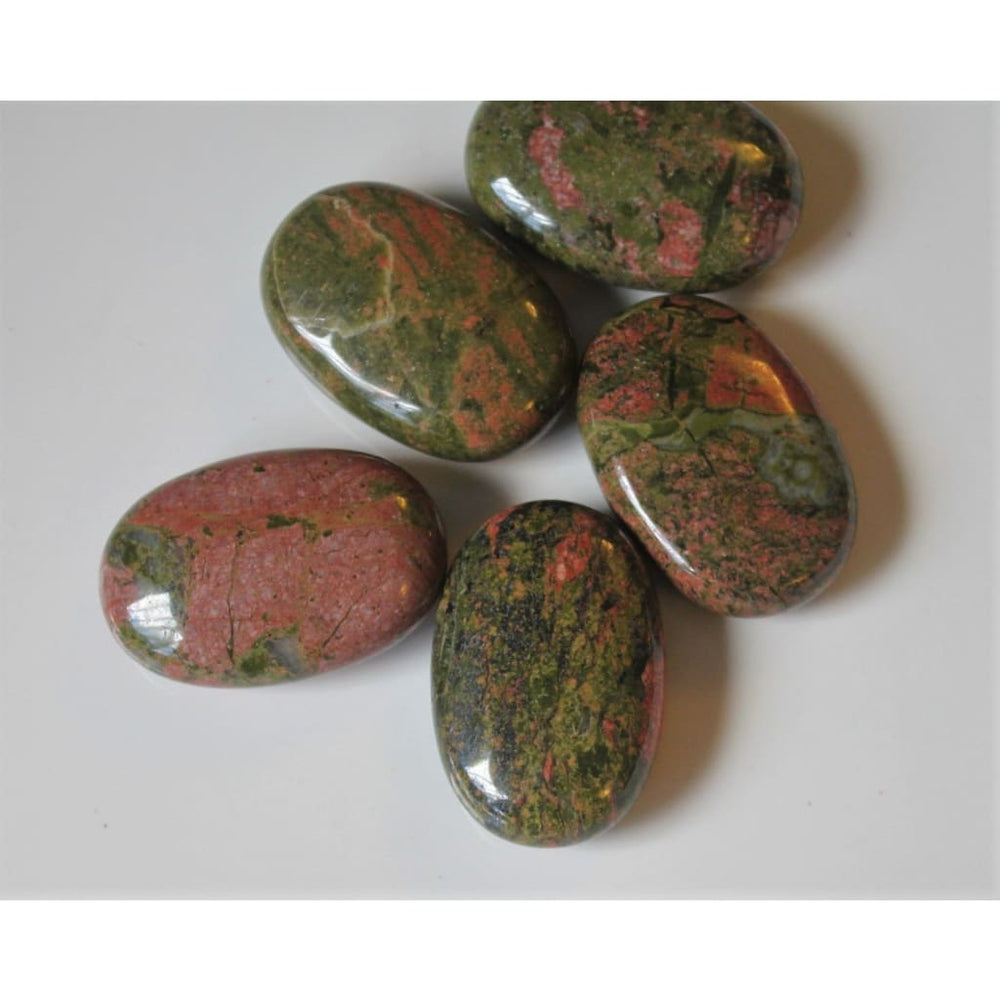 Unakite Crystal Unakite Palm Stone Fertility Crystals and Stones Meditation Stone Polished Unakite Fertility Gift - Polished Stones