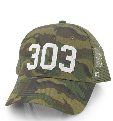 (Code) Word Mile High | Camo Trucker 303 | Hats | $35