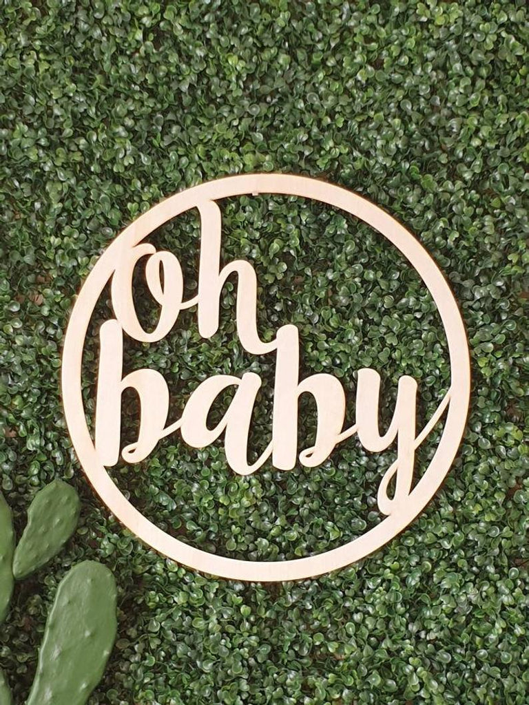 Oh Baby Wall Hoop Sign #2