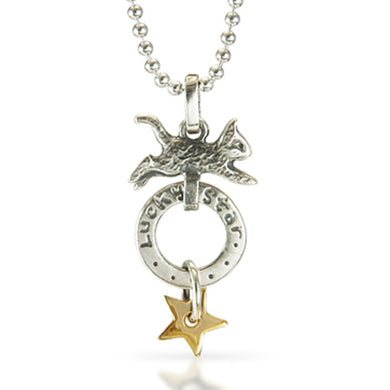 lucky star cat, necklace