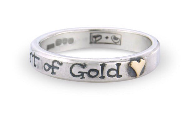 'Heart of Gold' ring