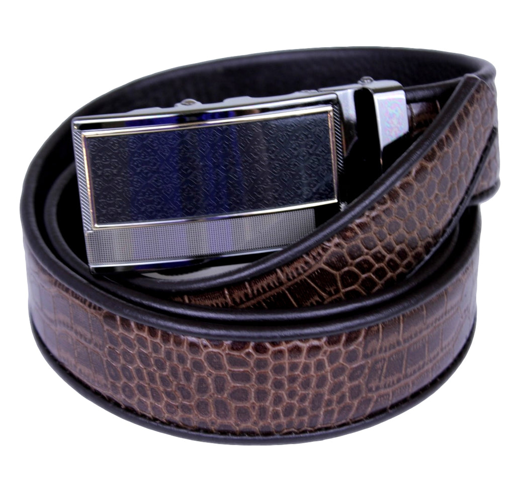 Mooniva Premium Leather Ratchet Belt  - BP004-COFFEE