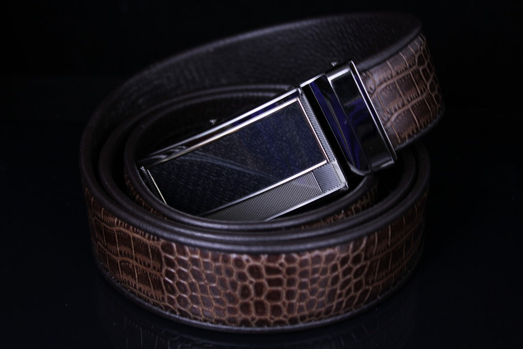 Mooniva Men's Luxury Leather Belt - BBP004-COFFEE