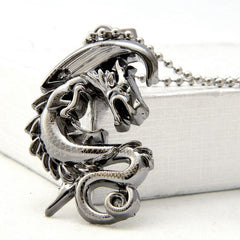 Men's Stainless Steel Chain Dangle Pendant Necklace