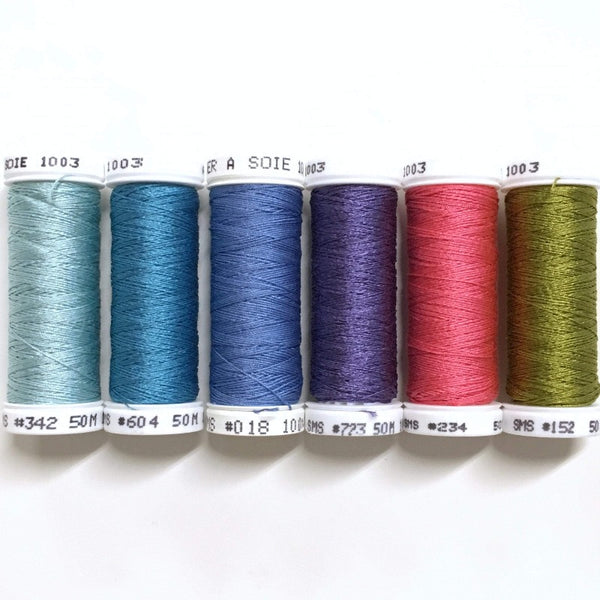 Blue Poppies - Soie 100/3 Thread Collection