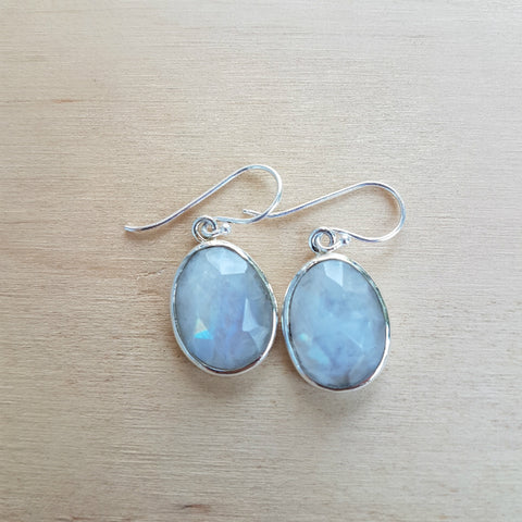 Rainbow Moonstone Polki Earring
