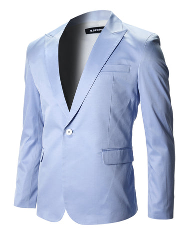 Mens Slim Fit Stylish Peaked Lapel Blazer Jacket (BJ200)