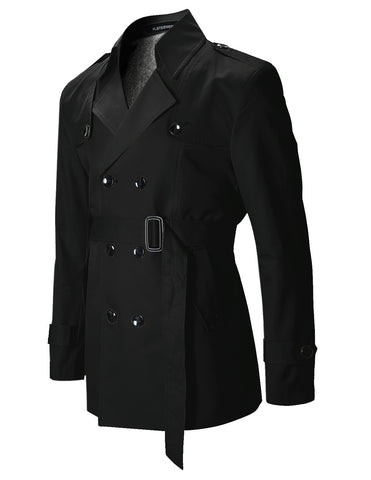 Mens Slim Fit Designer Casual Trench Coat (CT201)