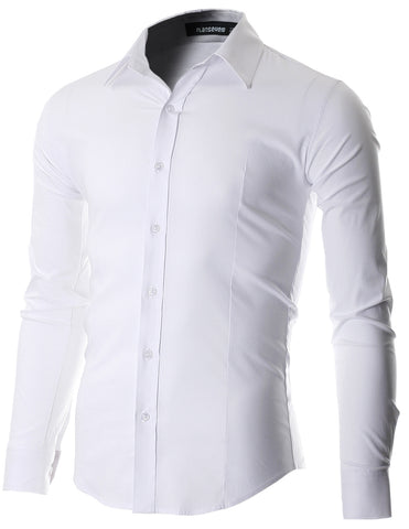 Men's Slim Fit Casual Button Down Dress Shirt Long Sleeve (SH600)