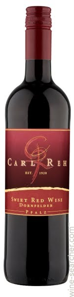 NV Carl Reh Sweet Red Wine Dornfelder, Pfalz, Germany (750ml)