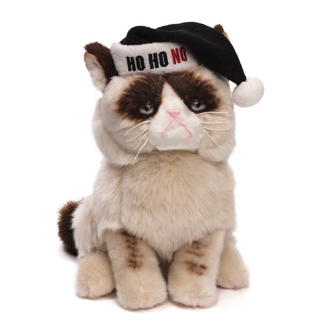 "Gund Plush Grumpy Cat with Santa Hat 9"" #4046085"