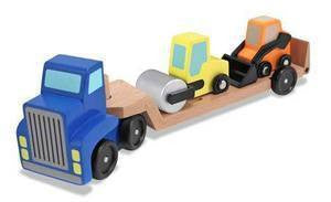 Low Loader Wooden Truck Set - - Melissa and Doug