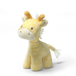 GUND Baby Plush Lolly Giraffe Yellow  Rattle - 5""